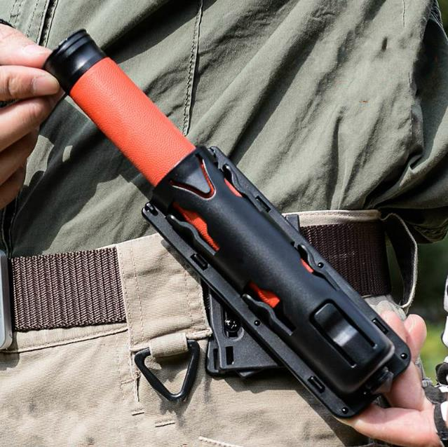 360 Degree Rotation GAS Baton Holder Expandable Plastic Swivelling Baton Black Case Telescopic Baton Holster