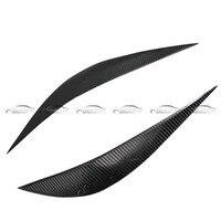 OLOTDI Real Carbon Fiber Car Eyelid For BMW F30 2013 2017 Front Headlamp Eyebrows Car Styling