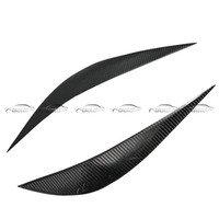 OLOTDI Real Carbon Fiber Car Eyelid For BMW F30 2013 2017 Front Headlamp Eyebrows Car Styling