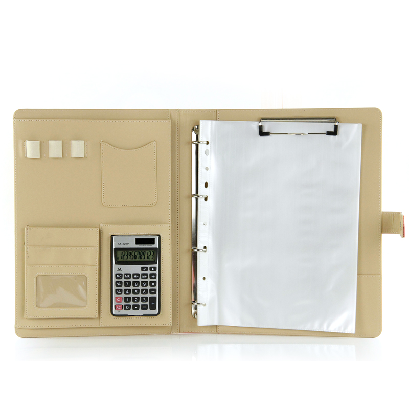 A4 Portable Business Padfolio  Folder Document Case multifunction organizer planner notebook ring binder without calculator кейс для диджейского оборудования thon case for xdj rx notebook