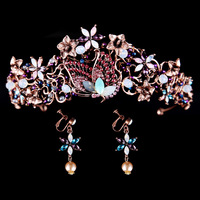 Bridal Tiara Vintage Crown Exotic Jewelry Hair Jewelry Wedding Crystals Hair Accessories Luxury Headwear Accessories Glod Pearls