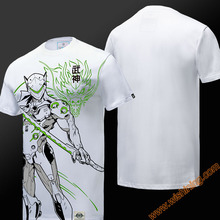 2017 Wishining OW Watch Over Genji Tshirts Mens Boys Short Sleeve White T-shirts OW Game Hero Tees Shirts