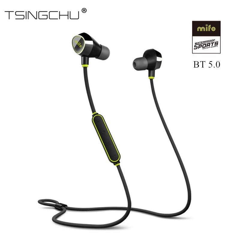 US $39.99 40% OFF|[Ulepszona wersja] Mifo i8 Bluetooth 5.0 słuchawka sportowa bezprzewodowe słuchawki Stereo HiFi słuchawki douszne magnetyczne