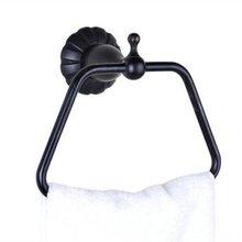 Бесплатная доставка! Матовый черный бронза туалет кольцо полотенца. Ванной полотенце Ring.1pcs / много