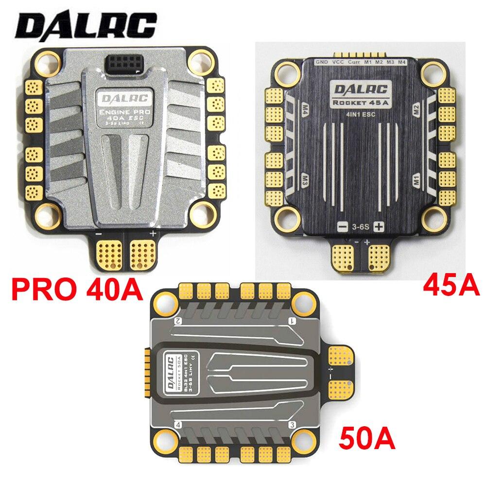 DALRC 4 en 1 ESC 40A 45A 50A Brushless 3-6S Blheli_32 LIHV DSHOT200 prêt pour FPV Racg compatible avec w/F05 F722 FC