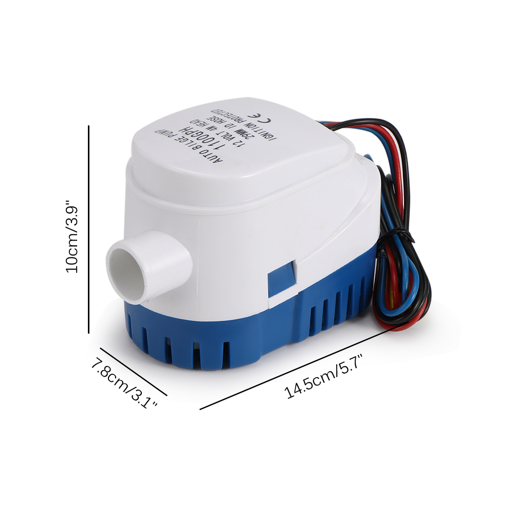 12V 3A 750GPH Boat Automatic Submersible Auto Bilge Water Pump Float Switch