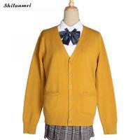 Women Cardigan Harajuku Kawaii Cute Knitted Sweater Knitwear Cardigan Women Korean Japanese School Yellow Christmas Sweater