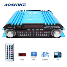 AOSHIKE 12V 80W Car Computer Amplifier Car-Mounted Home 4 Channel Card Remote Co