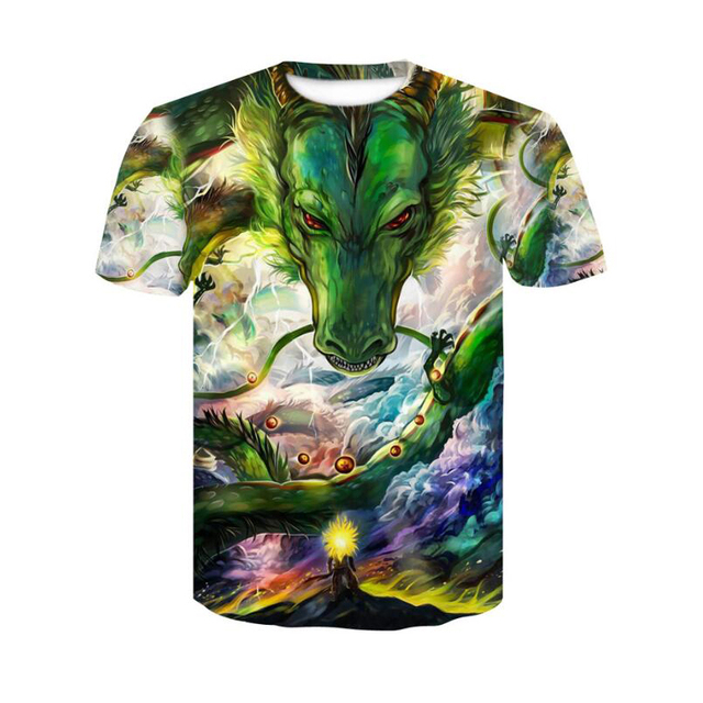 2018 Dragon Ball Super Saiyan T-Shirt Anime DragonBall Z 3D Vegeta Comics T Shirt Men Goku Costume Tees Cartoon Clothes 4
