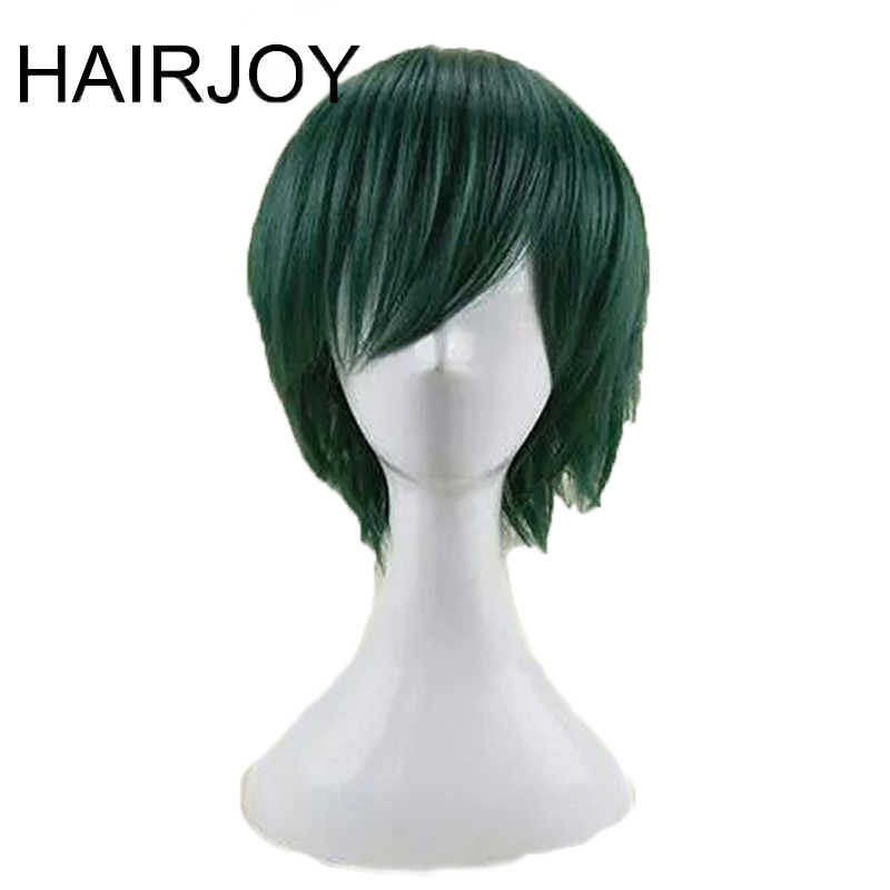 HAIRJOY Synthetic Hair Man Mint Green Layered Short Straight Male Cosplay Wig Free Shipping 5 Colors Available