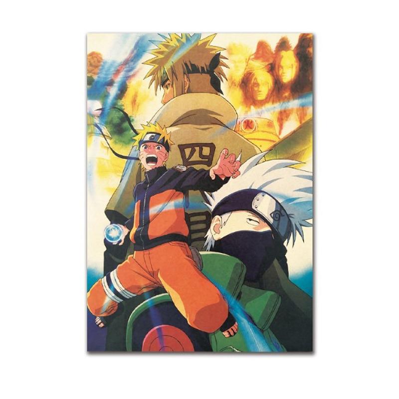 Naruto Arredamento Vintage Carta Kraft Movie Poster Decorazione Della Parete Di Casa Di Arte Riviste Retro Poster E Stampe