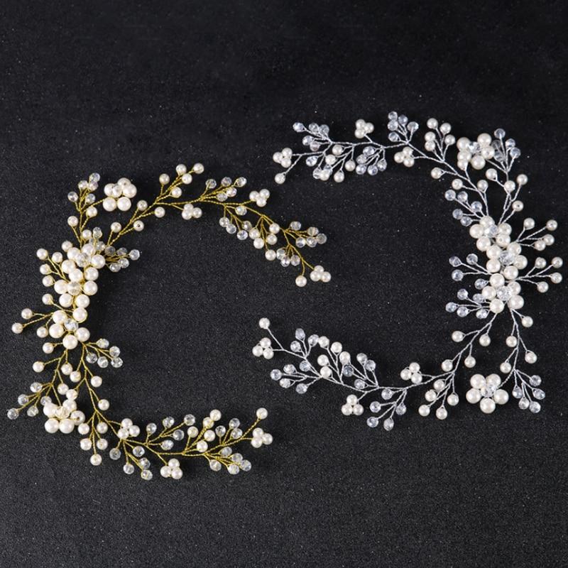 Reine Handgemachte Hochzeit Braut Kopf Schmuck Silber & Gold Blume ...