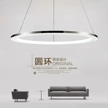 Modern led pendant lights Remote Circle ring pendant lamp abajour luminaria luster for dining living room bedroom kitchen salon