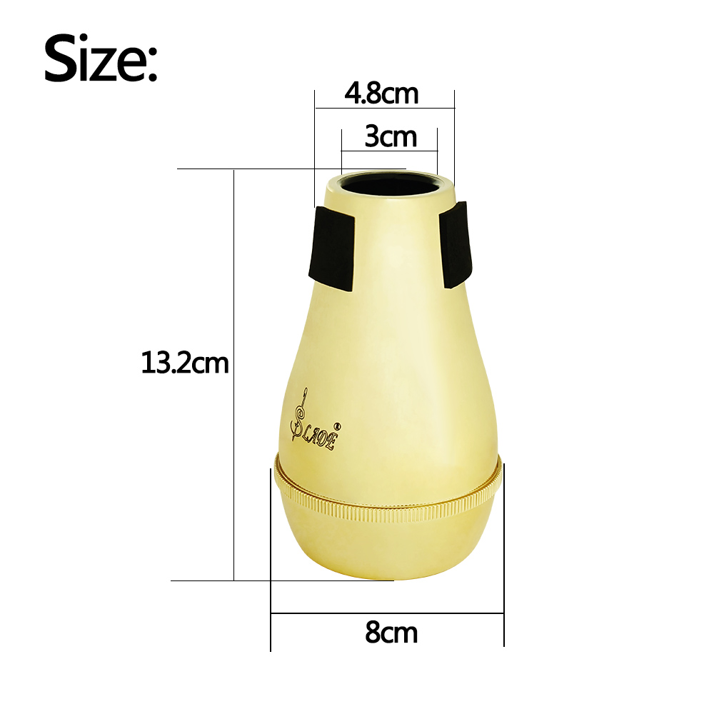 High Quality Light weight Practice Trombone Straight Mute Silencer Sourdine for Alto Tenor Trombones Gold Silver high quality light weight practice trombone straight mute silencer