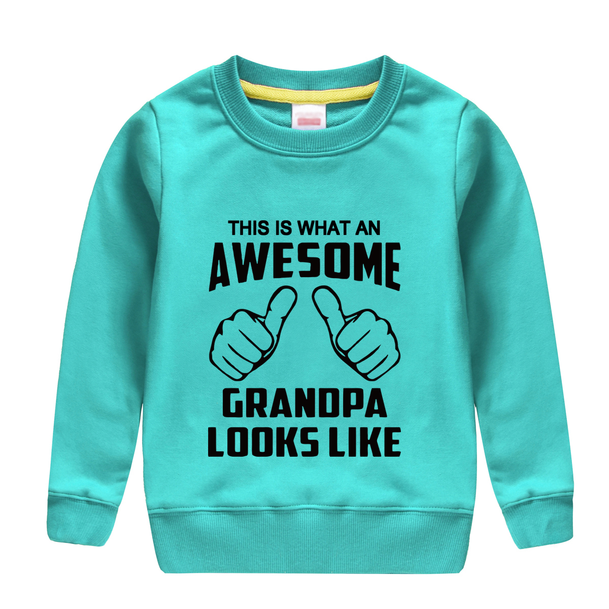 "HTB1kADbdzgy uJjSZR0q6yK5pXap - ""this is what an awesome granopa  looks like "" printing 2018 new fashion cotton sweatshirt baby boy clothing top tees for kids"