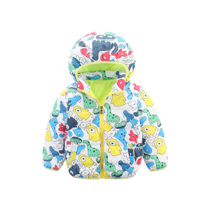 Fashion Boys Winter Jacket Brand Duck Down Jackets for Girls Cartoon Thick Outerwear Hooded Coat Jackets