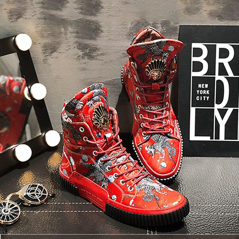 2019 neue Ankunft Männer Mode Top Hohe Turnschuhe Luxus Casual Schuhe Männer Stiefel Mode Frühjahr Herbst Schuhe 7 #20 /15E50-in Basic Stiefel aus Schuhe bei  Gruppe 3
