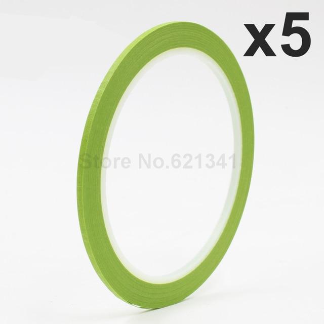 5 rollo 2mm x 25 m adhesiva verde Cintas para dedo Esmaltes de uñas ...