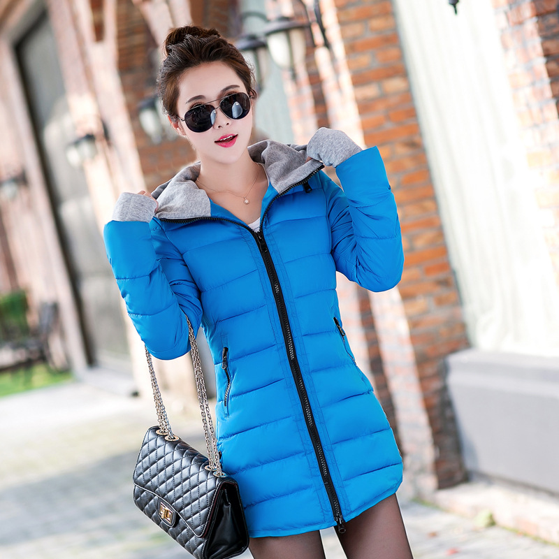 Winter Jacket Women 2017 New Female Parka Casual Long Coat Thin Quilted Padded Jacket Winter Warm Coat 11 Colors