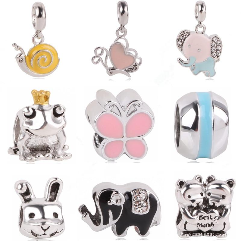 Punk Style Enamel Love Heart Umrella Santa House Monkey Flower Charm Beads Fit Pandora Bracelets For Women Diy Making Jewelry Beads & Jewelry Making