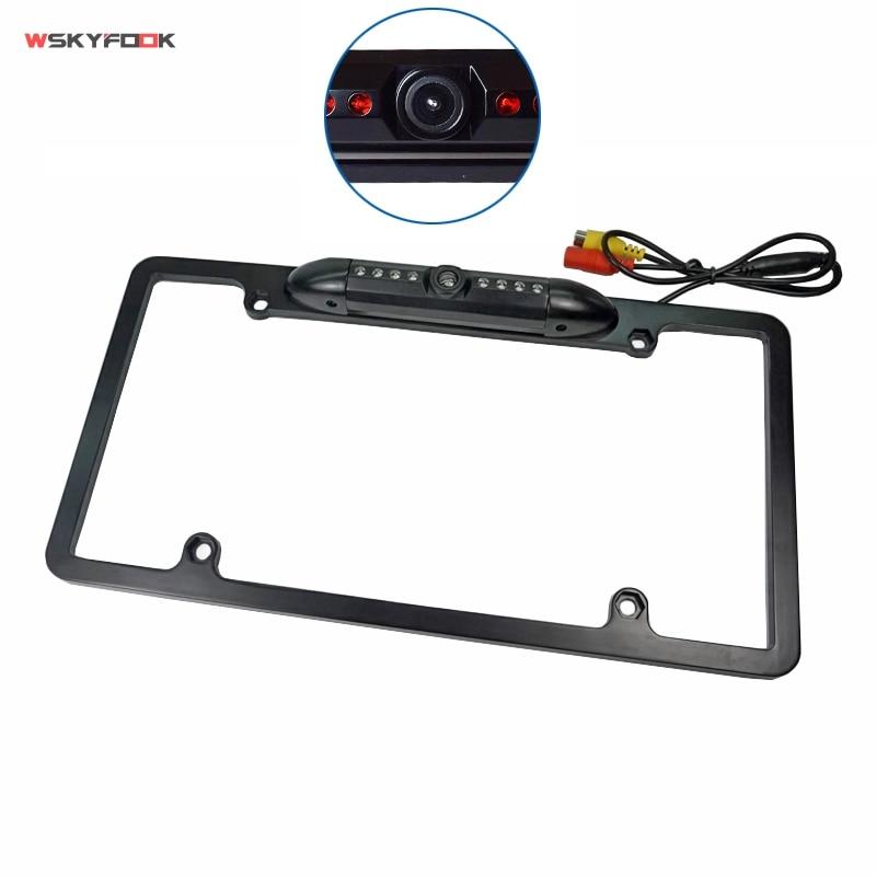 For Toyota USA License Plate Frame Camera 8 IR Night Vision Car Backup Reversing
