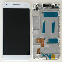 White LCD Display Glass Touch Screen Digitizer Assembly Frame For Huawei Ascend G7 G7 L01 G7