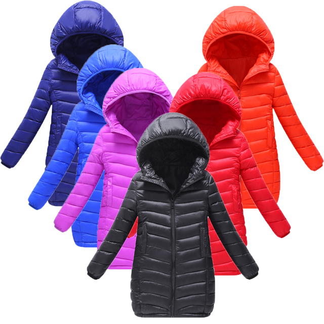 d1f6df664 Girls Winter jackets Boys Coat Children s Long Parkas Hooded Casual ...