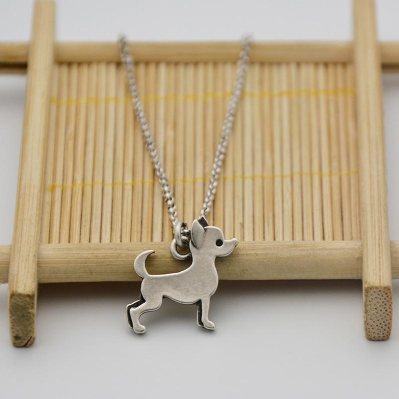 Fei Ye Paws Stainless Steel Rantai Pernyataan Chihuahua Dog Charms - Perhiasan fashion - Foto 6