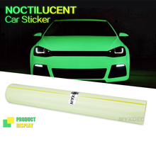 Glued PVC With Bubble Free High Energy Photo luminescent Sticker Vinyl Wrap