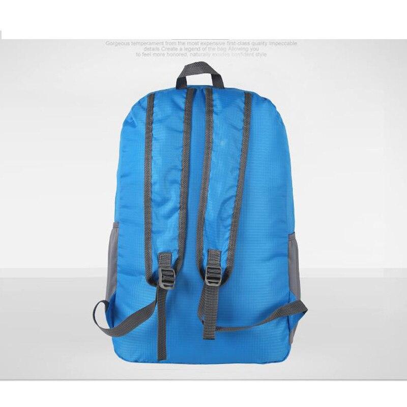 Simple Qualities Comfortable Women Men Waterproof Polyester Folding Backpacks Exercise Female Backpack Bag in Backpacks from Luggage Bags