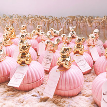 Милая Свадебная сумка для конфет, Романтическая Свадебная подарочная коробка, посылка Вечерние Розовые Сумки, свадебный подарок подружке невесты, ювелирное изделие для хранения