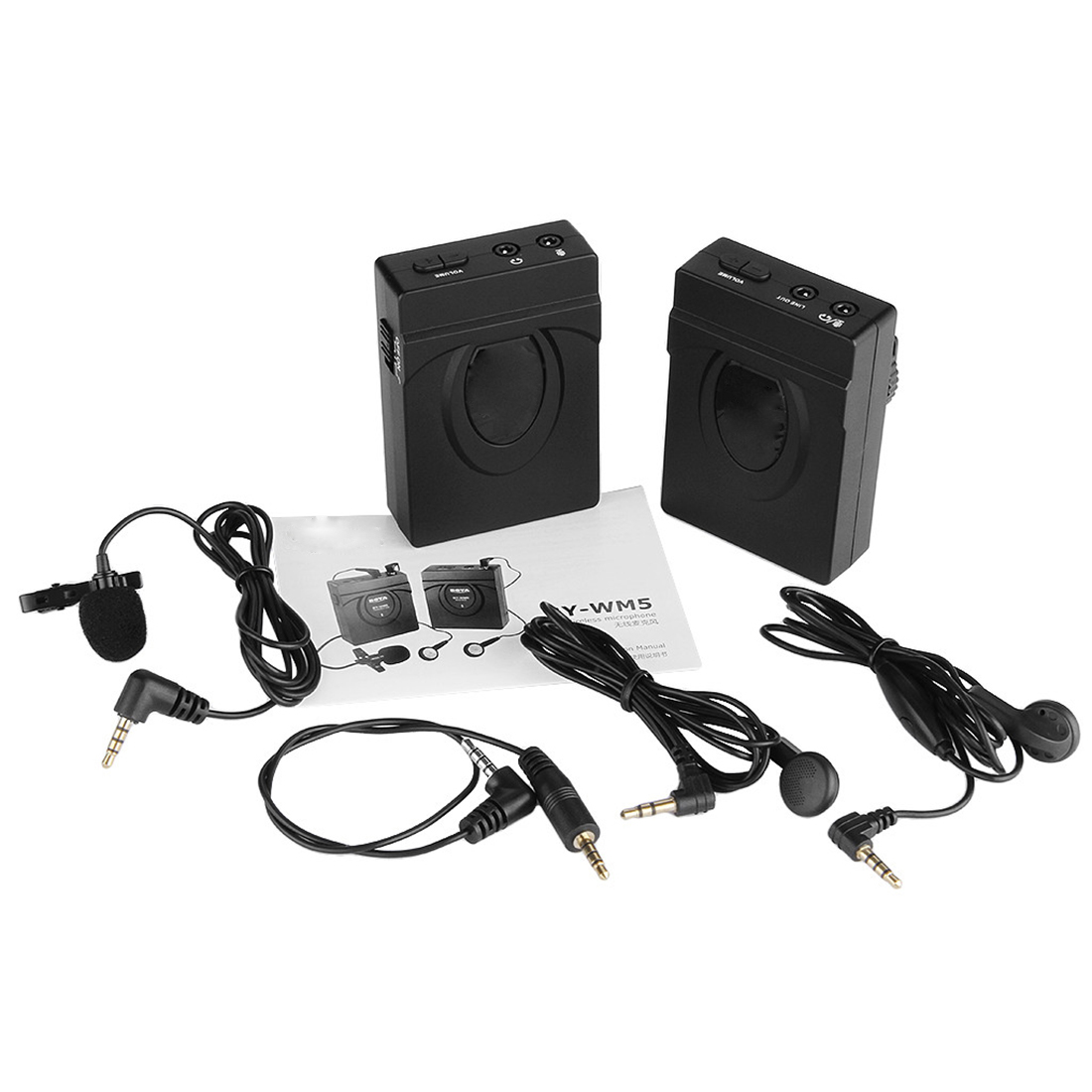 MAHA 2.4GHZ Wireless Lapel Lavalier Microphone System Camera Camcorder Microphone