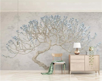 Custom wallpaper murals a blossoming tree floral branches Flower big 3d TV background wall tapety Beibehang