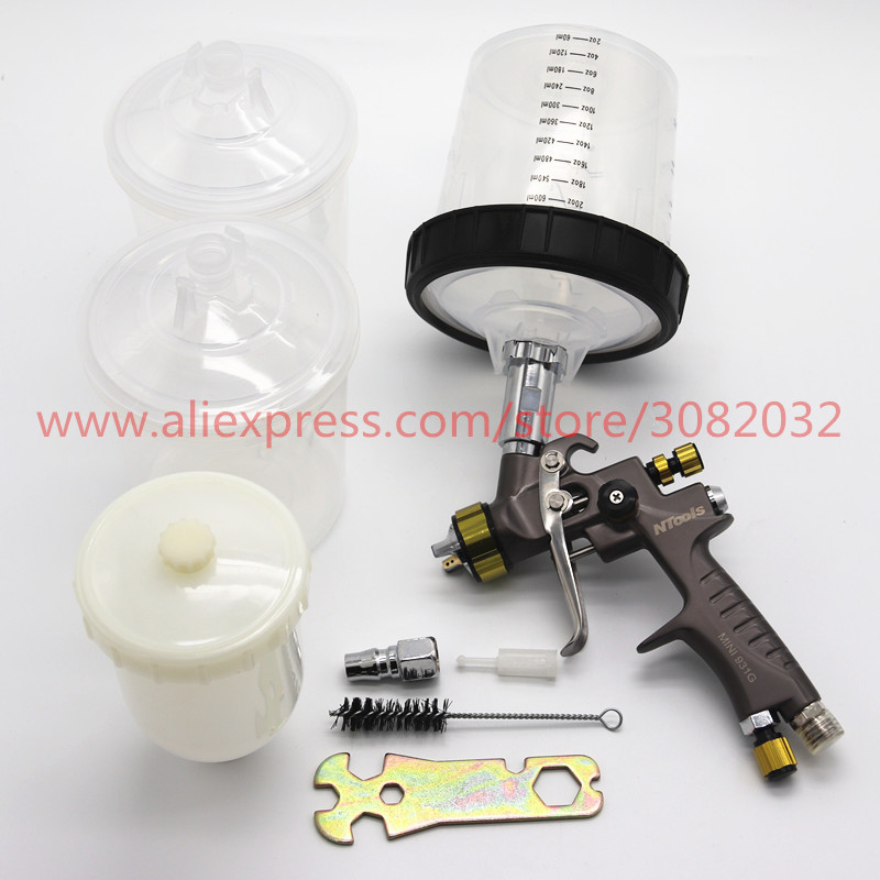 mini spray gun 1 2mm with Paint mixing cup air spray gun LVMP No cleaning cup