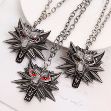 2015 Hot Sale Pendant Wizard Witcher 3 Medallion Pendant Necklace Wolf Head Necklace XL373