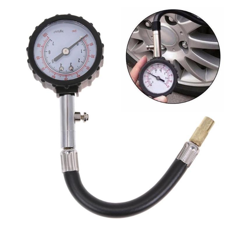 0-100 PSI preciso Auto de los neumáticos de coche medidor de la presión de los neumáticos del automóvil presión de aire medidor de marcación vehículo prueba herramienta caliente