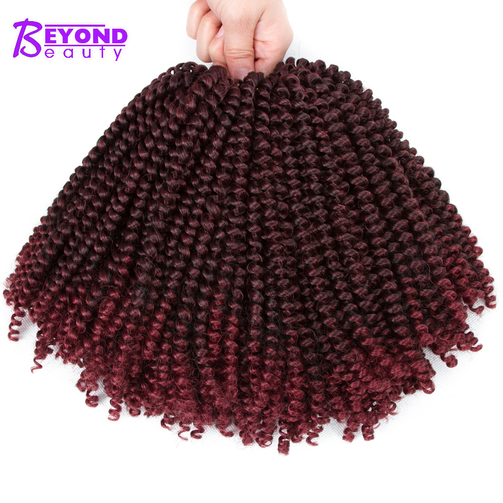 Synthetic Spring Twist Crochet Braids Hair Extensions Beyond Beauty Jamaican Bounce Crochet Braiding Hair For Passion Twist