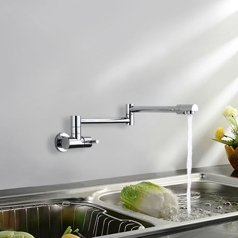 Superfaucet Copper Single Cold Water Tap Single Cold Kitchen Faucet Single Cold Faucet 360 Rotating HG