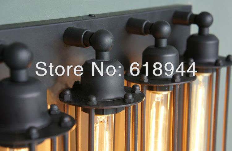 36b28aea9e1 4 Lamps American Rustic Vintage Ceiling Light