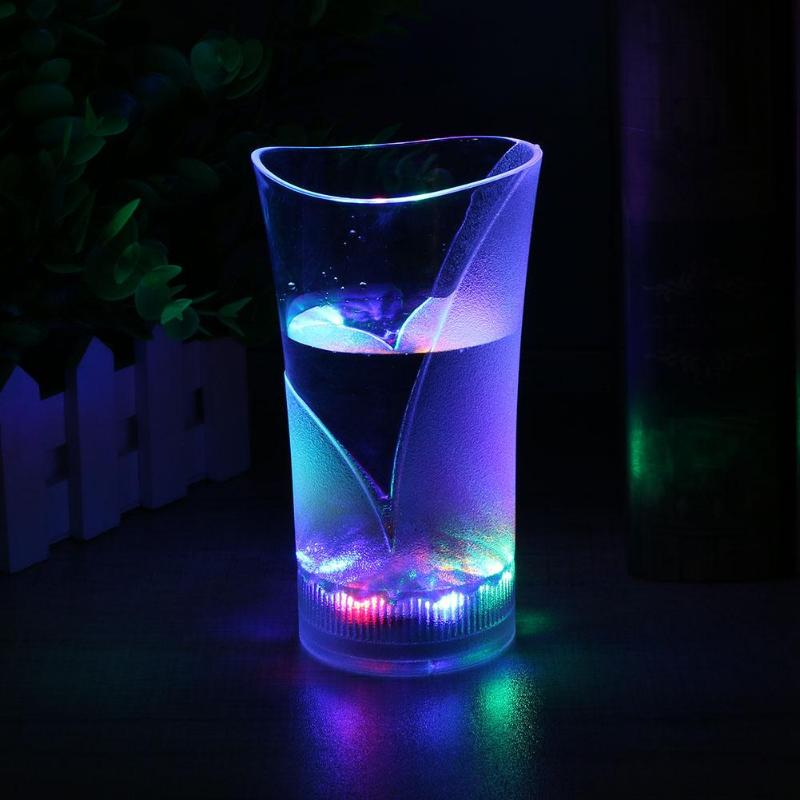 Luminous Flashing LED Light Up Cup Colorful Liquid Induction Party Club Cup Festival Celerbation Luminous Flashing LED Light Cup