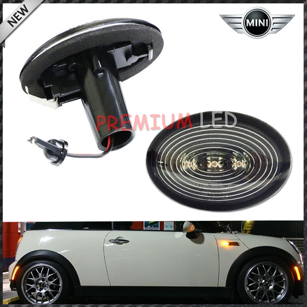 Amber 3 Led Black Smoked Side Marker Lights Lamps Fit 2006 2017 Mini Cooper R56 In Signal Lamp From Automobiles Motorcycles On Aliexpress Alibaba