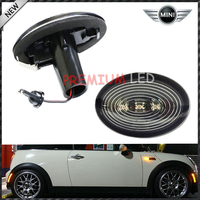 Amber 3 LED Black Smoked Side Marker Lights Lamps Fit 2006 2013 MINI Cooper R56
