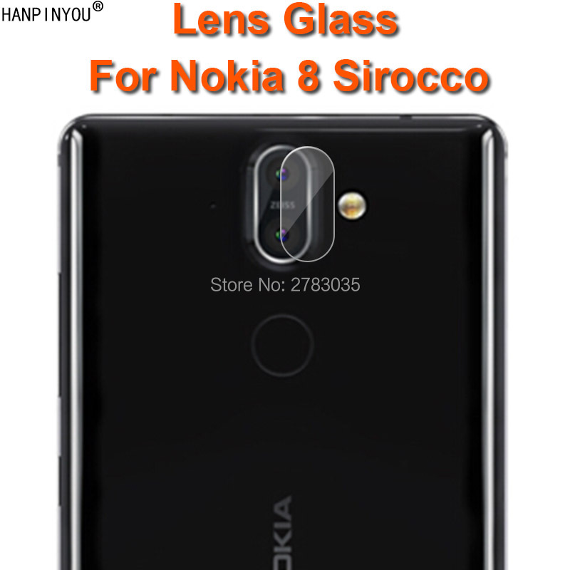 For Nokia 8 Sirocco 5.5 Clear Ultra Slim Back Camera Lens Protector Rear Camera Lens Cover Tempered Glass Film