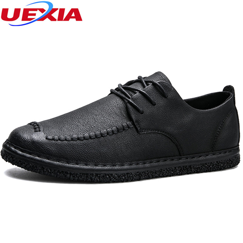 UEXIA Fashion Spring Summer Breathable Moccasins Men Loafers Shoes Male Flats Leather Casual Boat Walking Driving Shoes Footwear vesonal 2017 quality mocassin male brand genuine leather casual shoes men loafers breathable ons soft walking boat man footwear