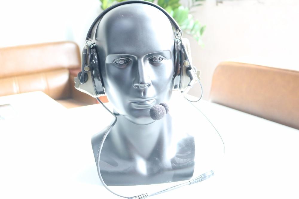 TAC-SKY COMTAC II Silicone earmuff daul version Noise reduction pickup headset -FG