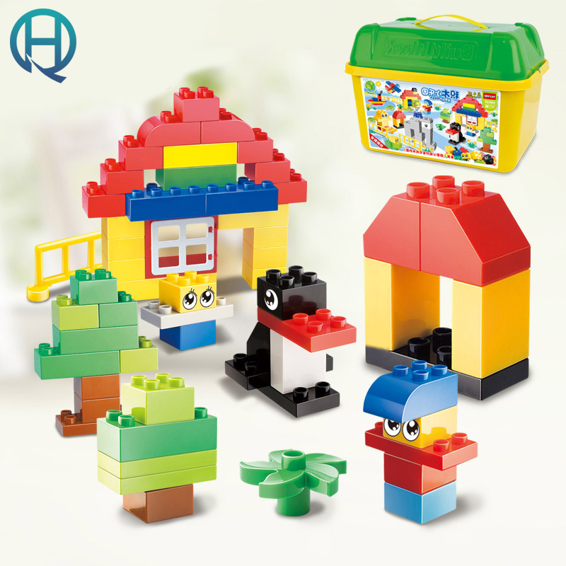 HuiMei Building Blocks Small Paradise DIY Model Big Building Blocks Bricks Baby Early Educational Learning Gift Toys for Kids huimei basic edition diy model big building blocks bricks baby early educational learning birthday gift toys for children kids