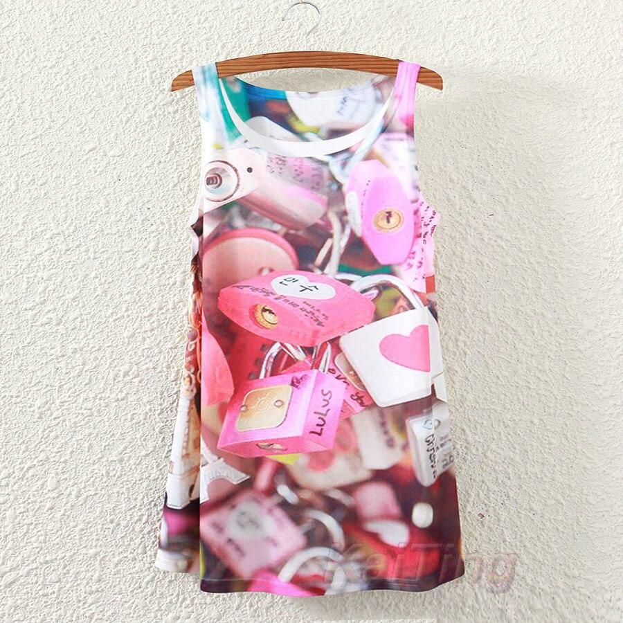 Новинка, модная винтажная весенне-Летняя женская футболка без рукавов с принтом животных, лошади, Льва, любви, футболки, блузки, Майки