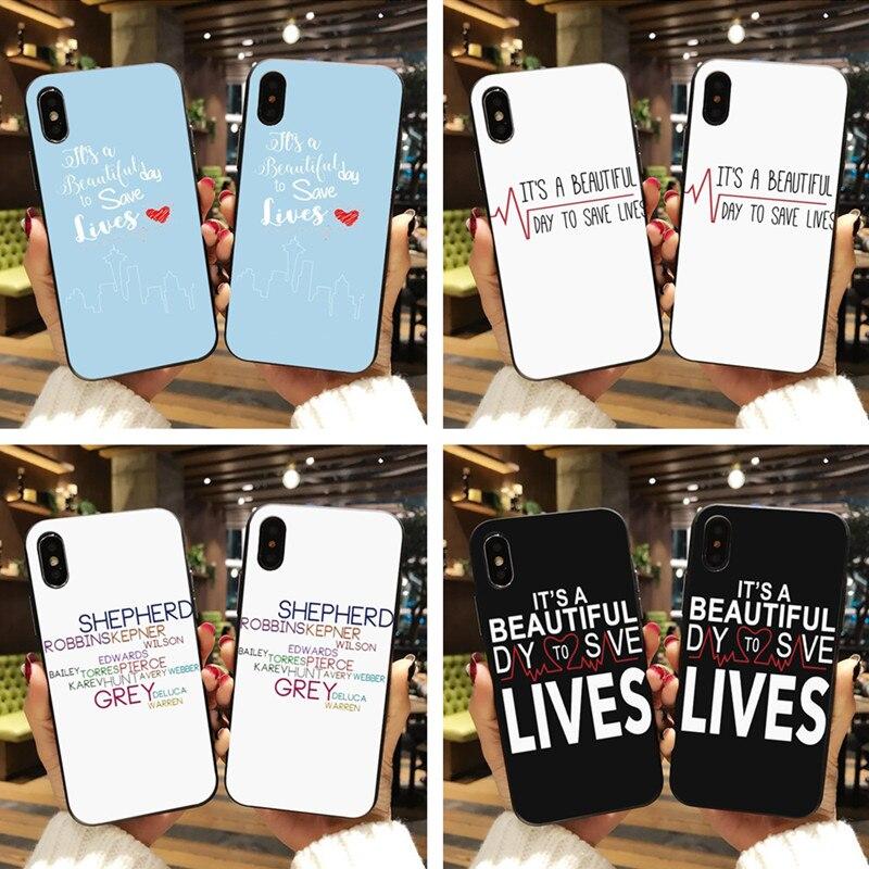 Cute Grays Anatomy Quotes patrón caso de la cubierta móvil para ...