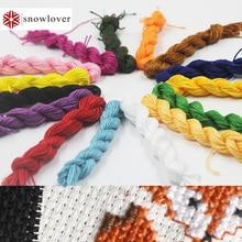 Снеговик, вышитая картина 1,2 м разноцветная опция DMC3023-3348 10 шт./партия вышивка крестиком хлопковое шитье, моток пряжи вышивка нить