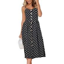 Sexy Dot Floral Long Dress Sleeveless V-Neck Casual Beach Siamese Dresses Sundress Sling Open Back  Female Summer Vestido